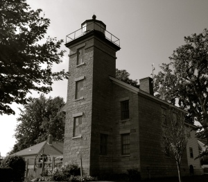 Sodus Point Lighthouse, BW