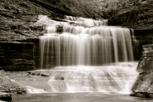 Buttermilk Falls, BW